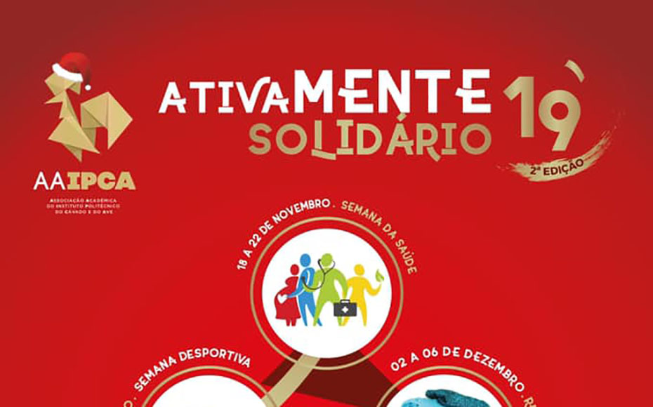 Ativamente solidário arranca já no dia 18 de novembro