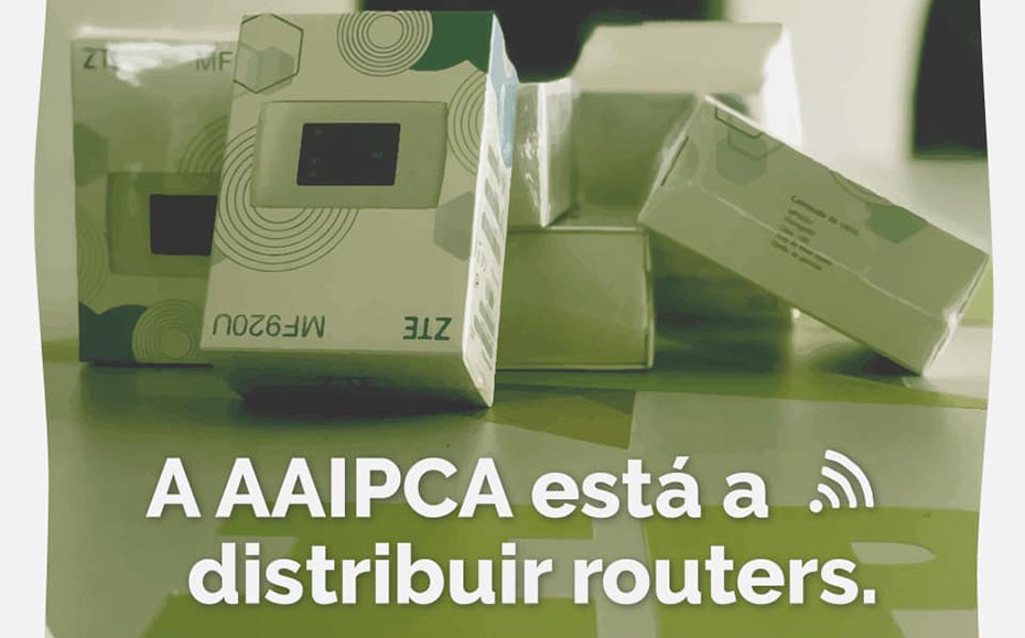 AAIPCA está a distribuir routers com internet